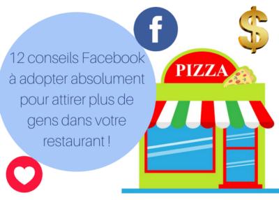 Facebook pour les restaurateurs