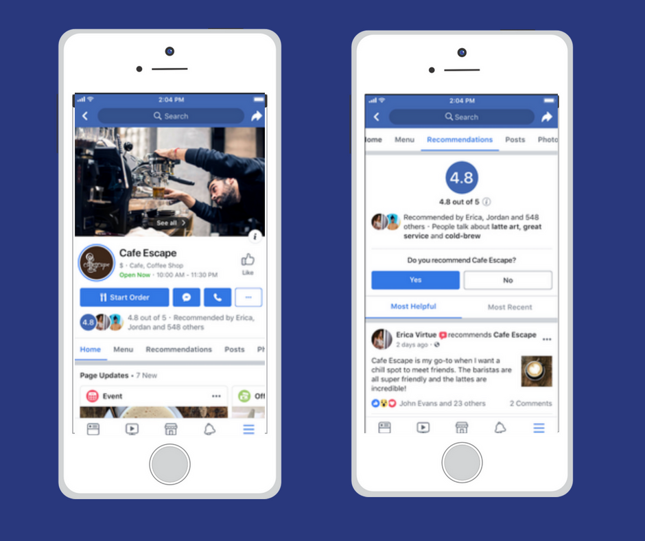 Facebook change l'interface des pages pro sur le mobile