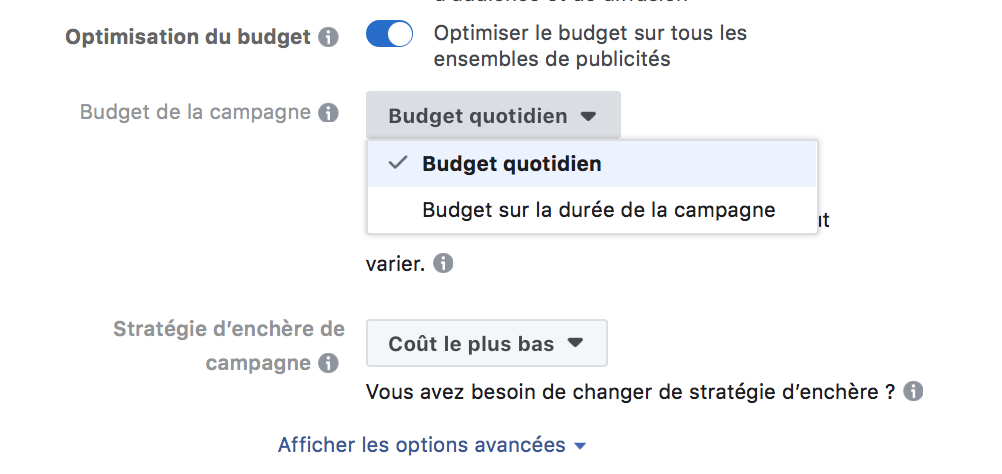 optimisation publicité facebook